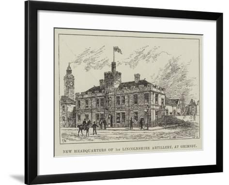 New Headquarters of 1st Lincolnshire Artillery, at Grimsby-Frank Watkins-Framed Art Print