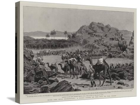 With the Nile Expedition, a Daily Scene on the Way to the Front-Frank Dadd-Stretched Canvas Print
