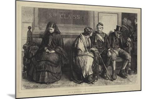 At a Railway Station, a Study-Frank Holl-Mounted Giclee Print