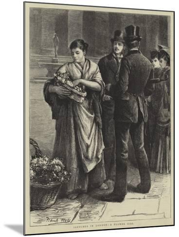 Sketches in London, a Flower Girl-Frank Holl-Mounted Giclee Print