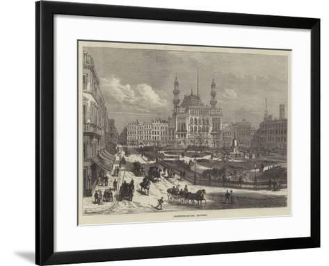 Leicester-Square, Restored-Frank Watkins-Framed Art Print
