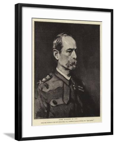 Lord Roberts in 1885-Frank Holl-Framed Art Print