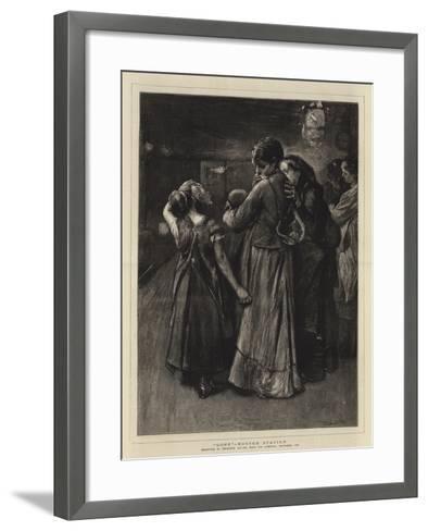Gone, Euston Station-Frank Holl-Framed Art Print