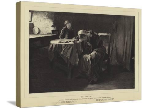 Bereaved-Frank Holl-Stretched Canvas Print