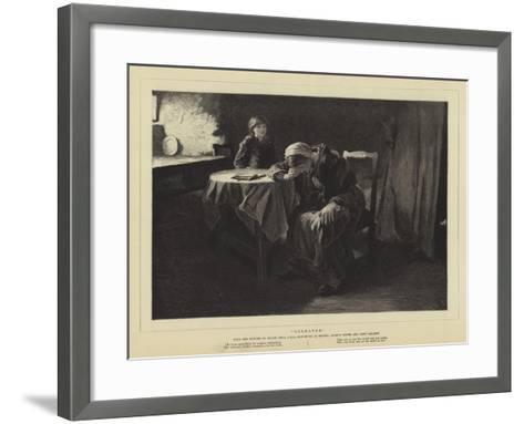 Bereaved-Frank Holl-Framed Art Print