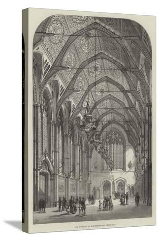 New Townhall at Manchester, the Great Hall-Frank Watkins-Stretched Canvas Print