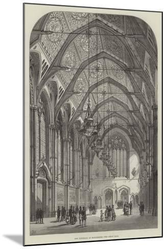 New Townhall at Manchester, the Great Hall-Frank Watkins-Mounted Giclee Print