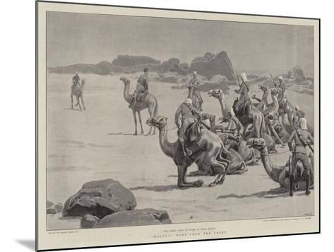 Mount!, News from the Front-Frank Dadd-Mounted Giclee Print