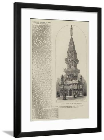 Canadian Trophy for the Paris Exhibition-Frank Watkins-Framed Art Print
