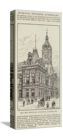 The New Municipal Buildings, Sunderland-Frank Watkins-Stretched Canvas Print