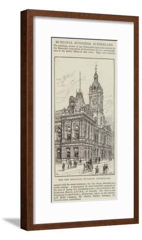 The New Municipal Buildings, Sunderland-Frank Watkins-Framed Art Print