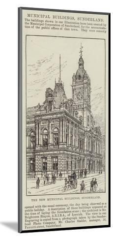 The New Municipal Buildings, Sunderland-Frank Watkins-Mounted Giclee Print