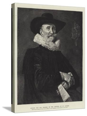 Johann Van Loo, Colonel of the Archers of St George-Frans Hals-Stretched Canvas Print