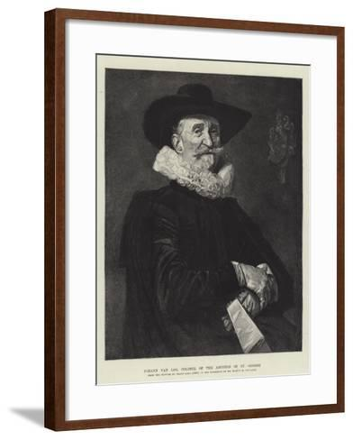 Johann Van Loo, Colonel of the Archers of St George-Frans Hals-Framed Art Print