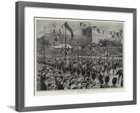 The Colonial Cavalry Escort Passing Down Parliament Street-Frank Dadd-Framed Art Print