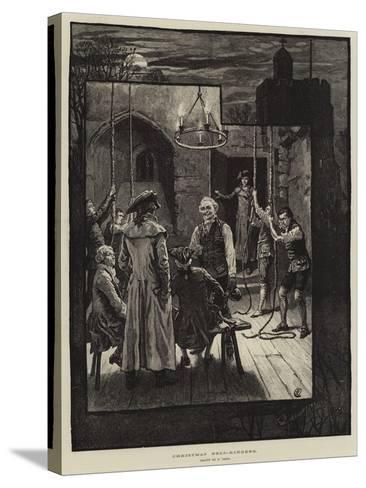 Christmas Bell-Ringers-Frank Dadd-Stretched Canvas Print