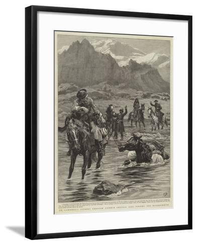 Dr Lansdell's Journey Through Chinese Central Asia, Fording the Muzart-Nin-Su-Frank Dadd-Framed Art Print