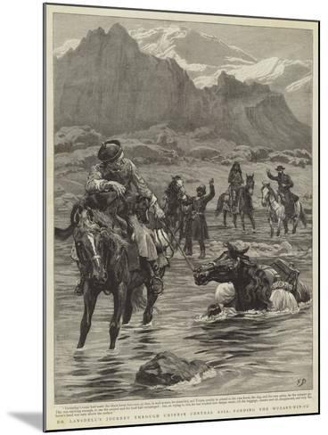 Dr Lansdell's Journey Through Chinese Central Asia, Fording the Muzart-Nin-Su-Frank Dadd-Mounted Giclee Print