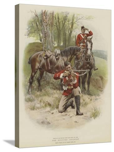 The Mounted Infantry-Frank Dadd-Stretched Canvas Print