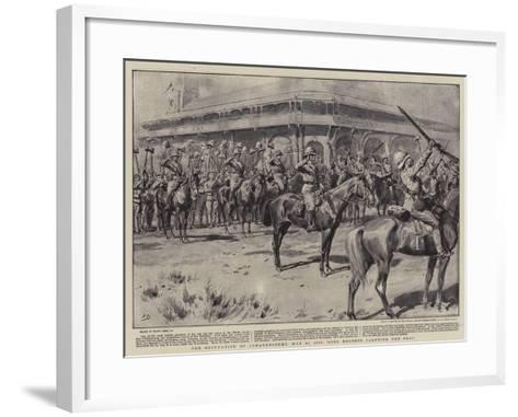 The Occupation of Johannesburg, 31 May 1900, Lord Roberts Saluting the Flag-Frank Dadd-Framed Art Print