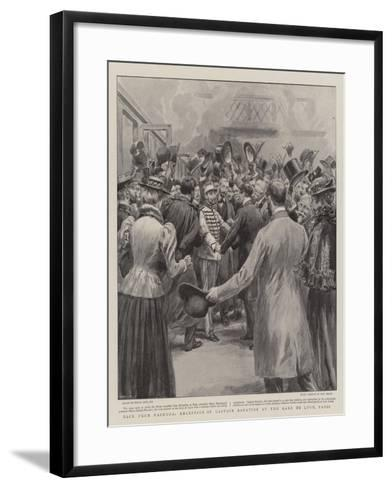 Back from Fashoda, Reception of Captain Baratier at the Gare De Lyon, Paris-Frank Dadd-Framed Art Print
