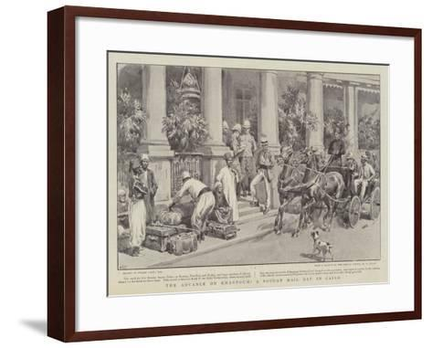 The Advance on Khartoum, a Soudan Mail Day in Cairo-Frank Dadd-Framed Art Print