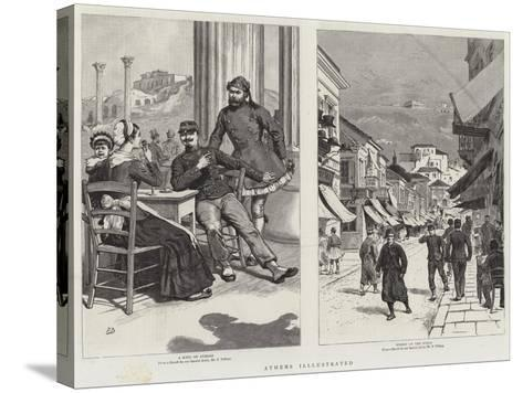 Athens Illustrated-Frank Dadd-Stretched Canvas Print