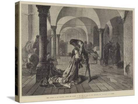 The Convent of San Francesco During the Sacking of the City of Assisi by the Perugians, 1442-Frank W. W. Topham-Stretched Canvas Print