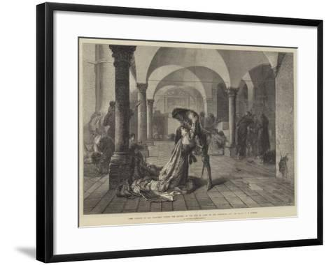 The Convent of San Francesco During the Sacking of the City of Assisi by the Perugians, 1442-Frank W. W. Topham-Framed Art Print
