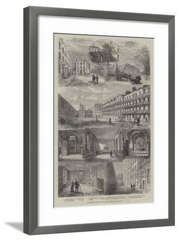 Sketches of the Queen's Bench Prison-Frank Watkins-Framed Art Print