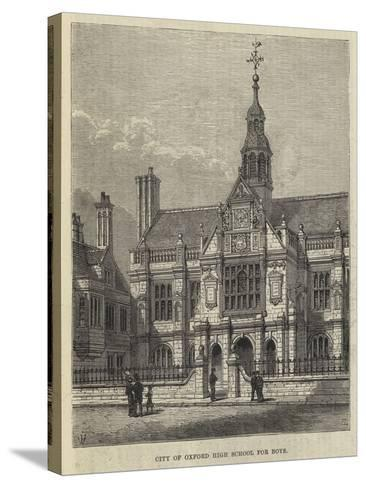 City of Oxford High School for Boys-Frank Watkins-Stretched Canvas Print