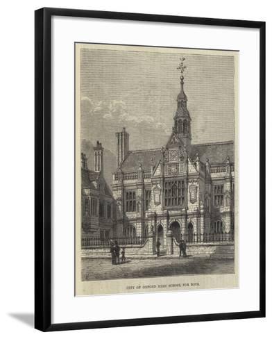 City of Oxford High School for Boys-Frank Watkins-Framed Art Print