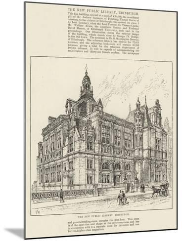 The New Public Library, Edinburgh-Frank Watkins-Mounted Giclee Print