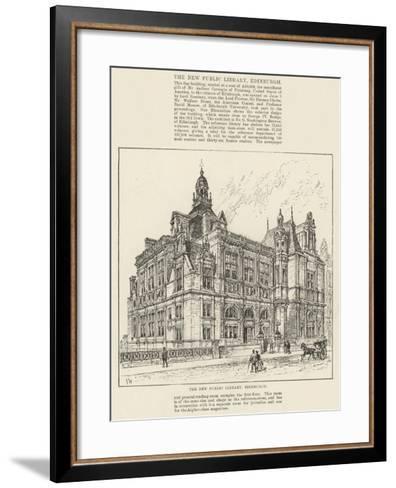 The New Public Library, Edinburgh-Frank Watkins-Framed Art Print