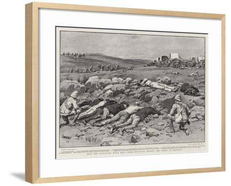 How the Prisoners Were Kept from Escaping During the Fight at Graspan-Frank Dadd-Framed Art Print