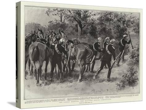 The Bisley Meeting, the Mounted Scouts Competition-Frank Dadd-Stretched Canvas Print