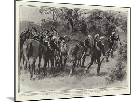 The Bisley Meeting, the Mounted Scouts Competition-Frank Dadd-Mounted Giclee Print