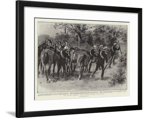 The Bisley Meeting, the Mounted Scouts Competition-Frank Dadd-Framed Art Print
