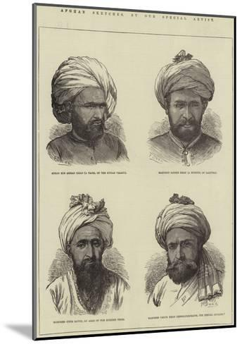 Afghan Sketches-Frank Dadd-Mounted Giclee Print