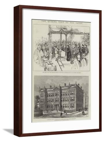 The Queen's Visit to the Savoy-Frank Watkins-Framed Art Print