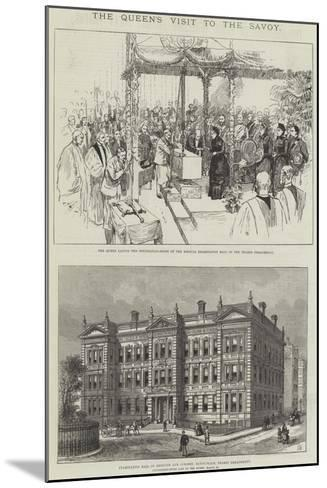 The Queen's Visit to the Savoy-Frank Watkins-Mounted Giclee Print