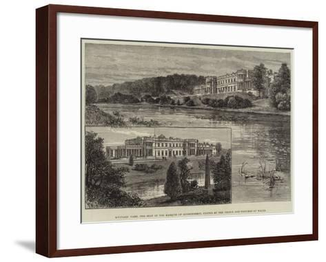 Wynyard Park, the Seat of the Marquis of Londonderry, Visited by the Prince and Princess of Wales-Frank Watkins-Framed Art Print