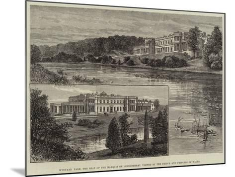 Wynyard Park, the Seat of the Marquis of Londonderry, Visited by the Prince and Princess of Wales-Frank Watkins-Mounted Giclee Print