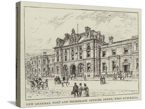 New General Post and Telegraph Offices, Perth, West Australia-Frank Watkins-Stretched Canvas Print
