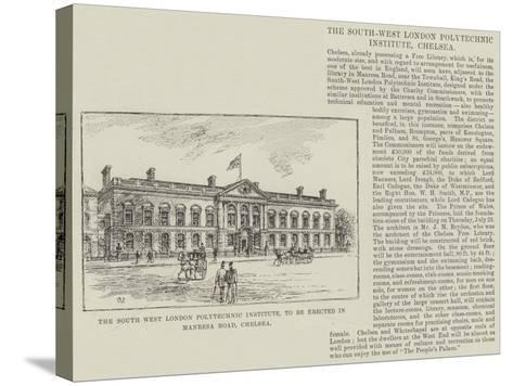 The South West London Polytechnic Institute, to Be Erected in Manresa Road, Chelsea-Frank Watkins-Stretched Canvas Print