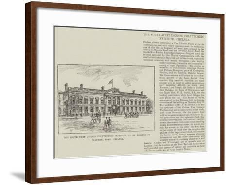 The South West London Polytechnic Institute, to Be Erected in Manresa Road, Chelsea-Frank Watkins-Framed Art Print