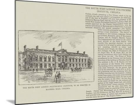 The South West London Polytechnic Institute, to Be Erected in Manresa Road, Chelsea-Frank Watkins-Mounted Giclee Print