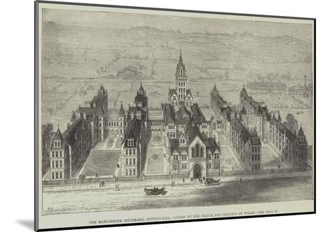The Marylebone Infirmary, Notting-Hill, Opened by the Prince and Princess of Wales-Frank Watkins-Mounted Giclee Print