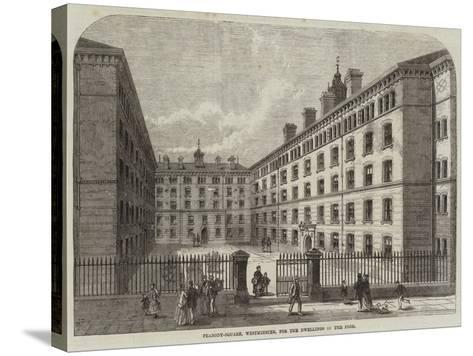 Peabody-Square, Westminster, for the Dwellings of the Poor-Frank Watkins-Stretched Canvas Print