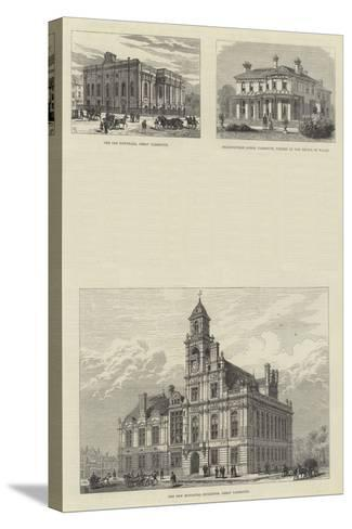 Sketches of Great Yarmouth-Frank Watkins-Stretched Canvas Print